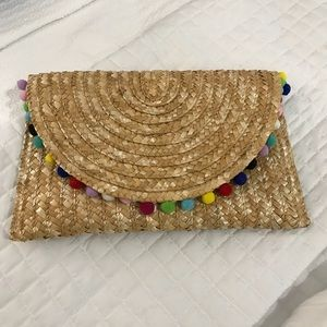 Handbags - Pom Pom Clutch Purse